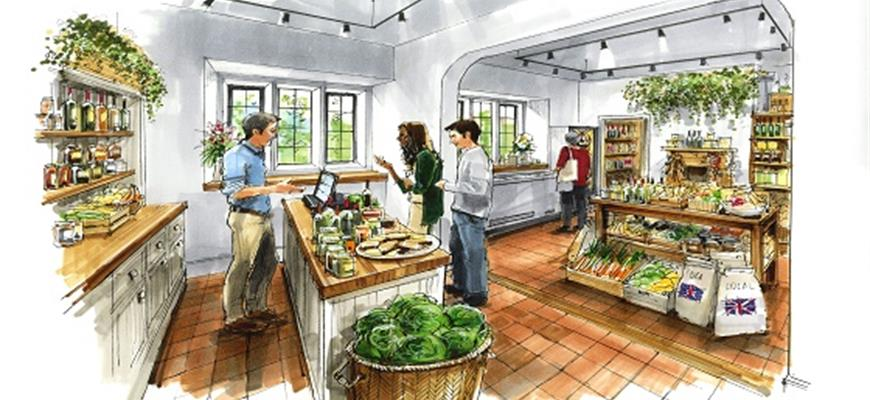 Artists image of Chester house Pantry shop