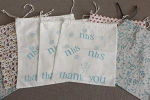 Northamptonshire adult learners sew bags for hospital staff