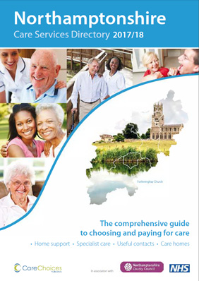 Care services directory brochure 2017 to 2018 front cover
