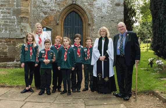 Civic service with Cub scouts