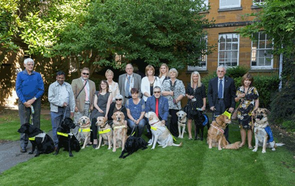 Guide dogs at County Hall