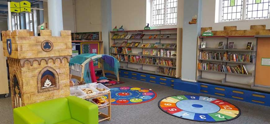 Under 5's area in library