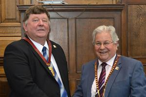 New county council chairman offers his support to two charities