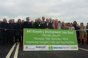 A45 Daventry Development Link opens